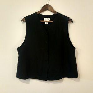 Eileen Fisher black vest size Medium